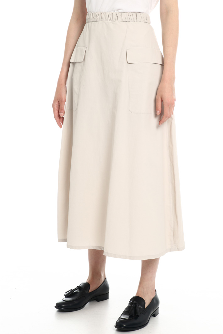 Cotton taffeta skirt Intrend