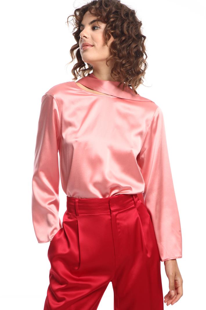 Silk-satin blouse  Intrend