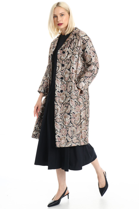 Lamé jacquard duster coat Intrend
