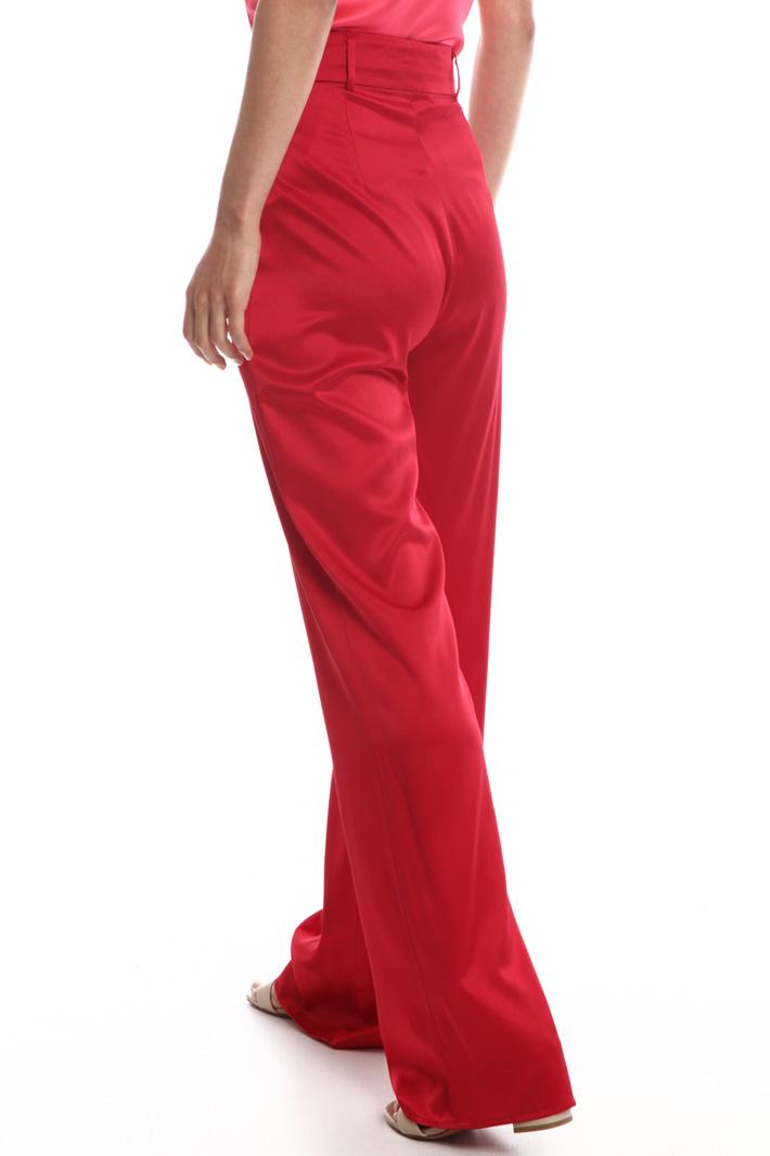 Wide-leg silk trousers  Intrend
