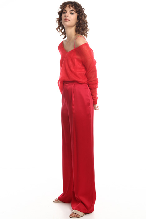 Wide-leg silk trousers  Intrend