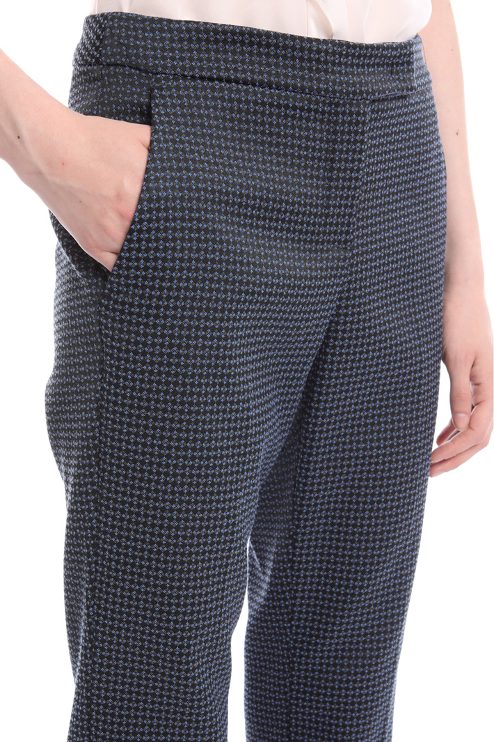 Jacquard cotton trousers  Intrend
