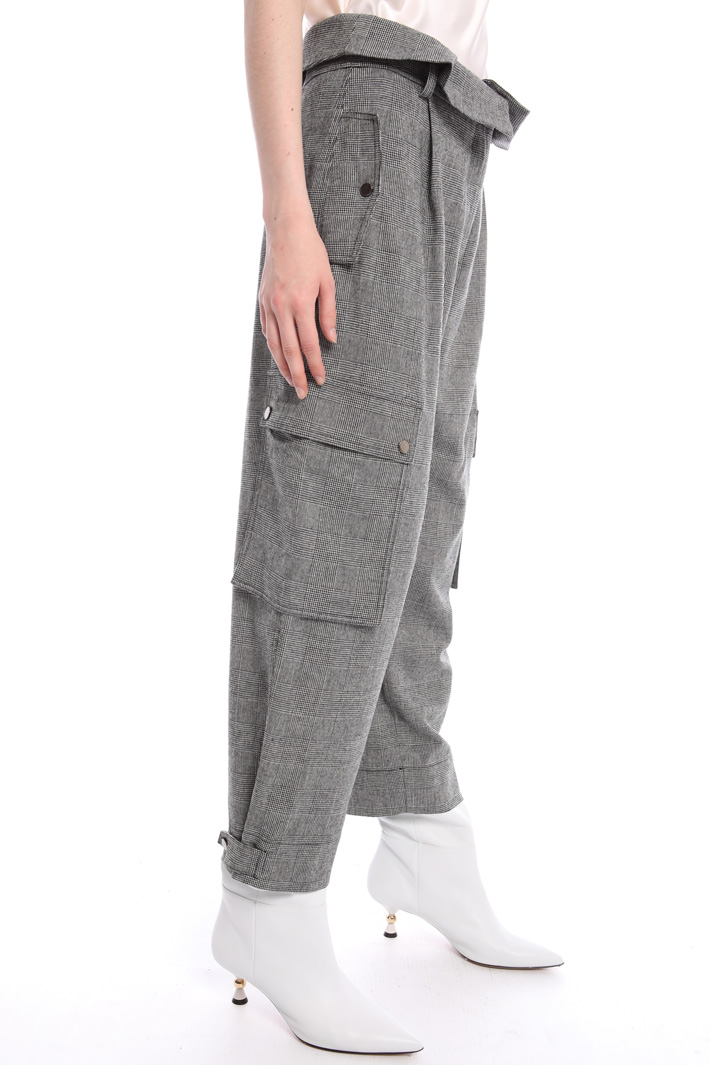 Wool blend cargo trousers Intrend