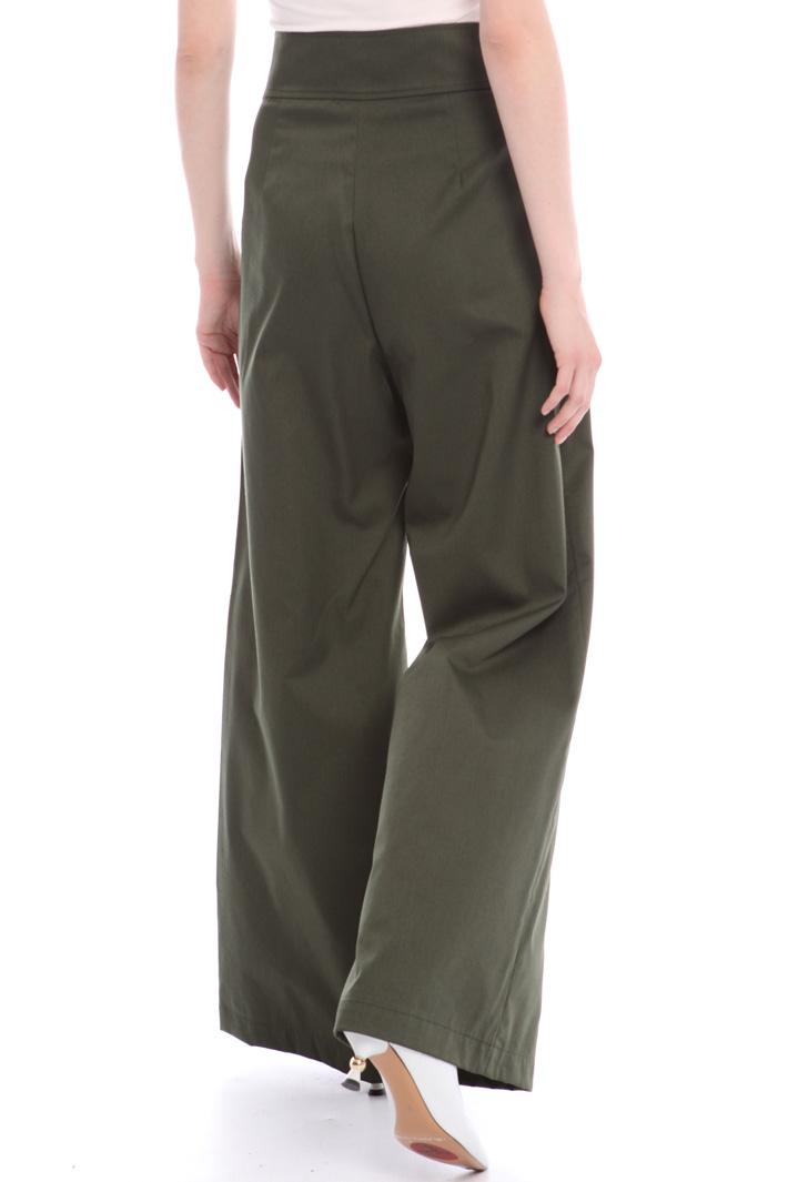 Flared gabardine trousers Intrend