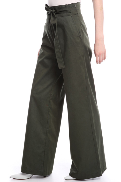 Flared gabardine trousers Intrend