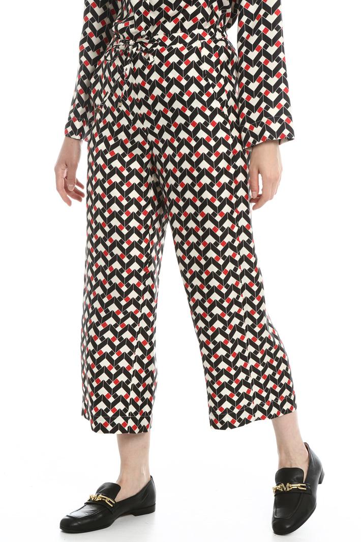 Silk twill trousers Intrend