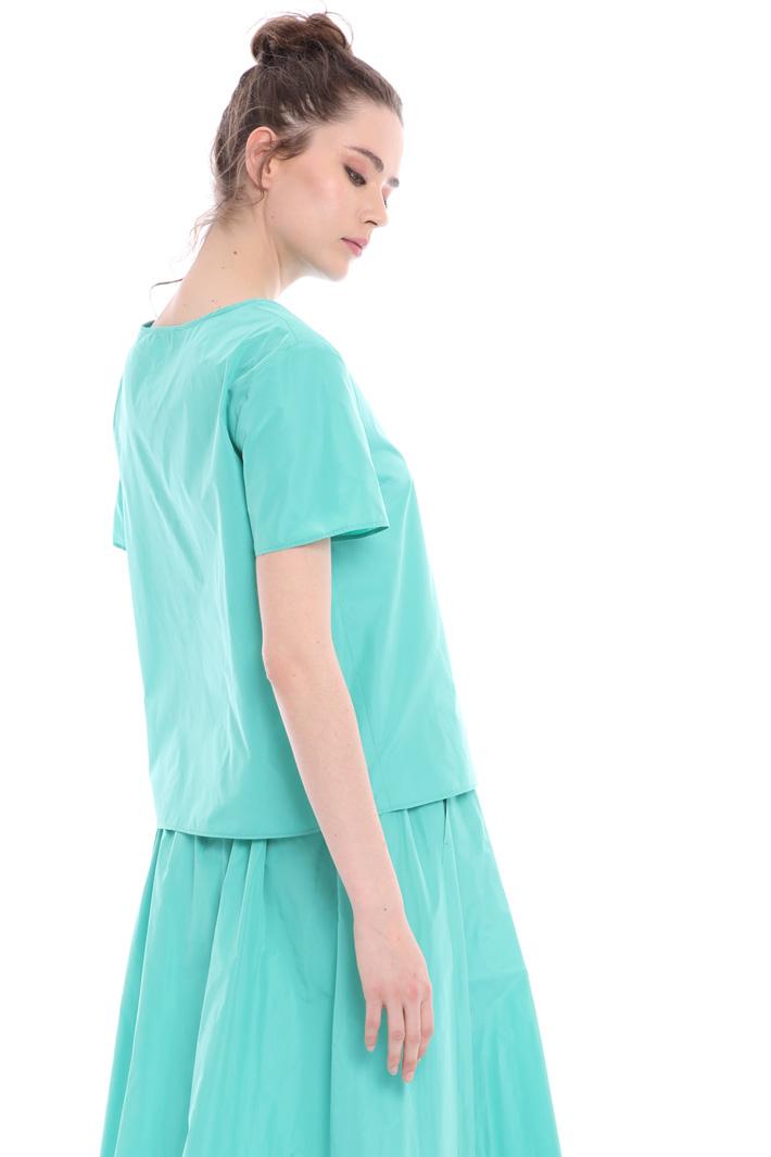 Boxy taffeta blouse  Intrend