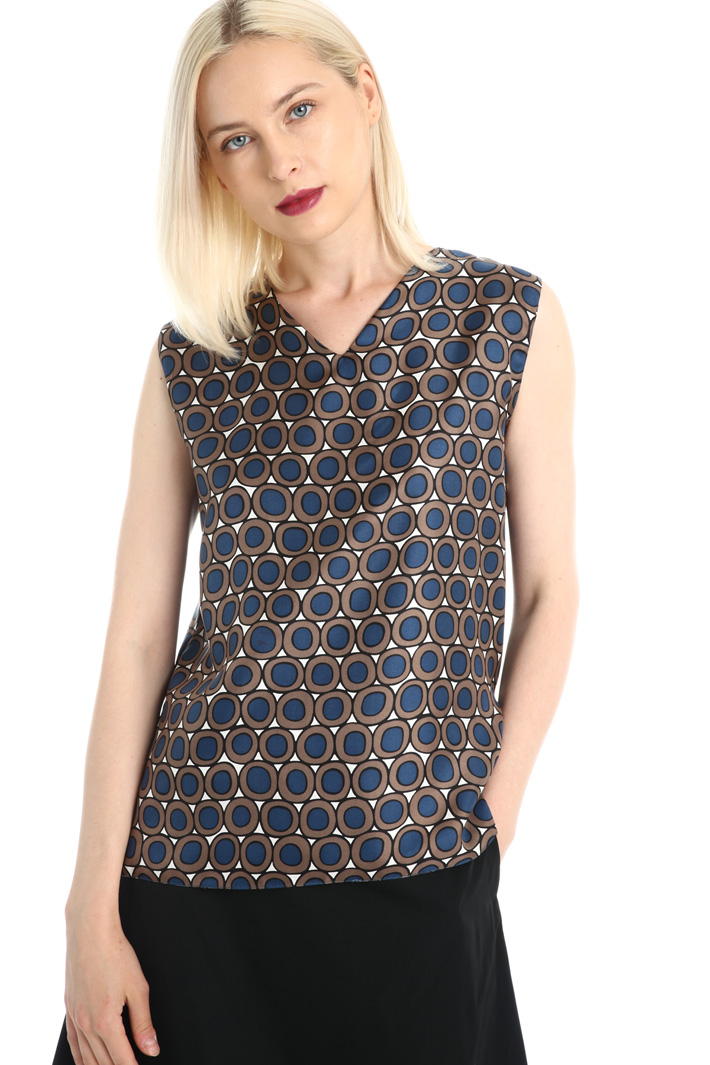 Reversible silk twill top Intrend