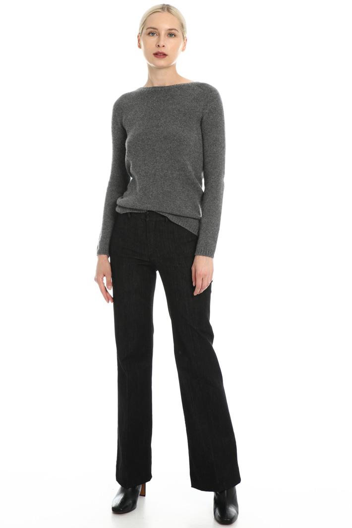 Wide-leg denim trousers Intrend