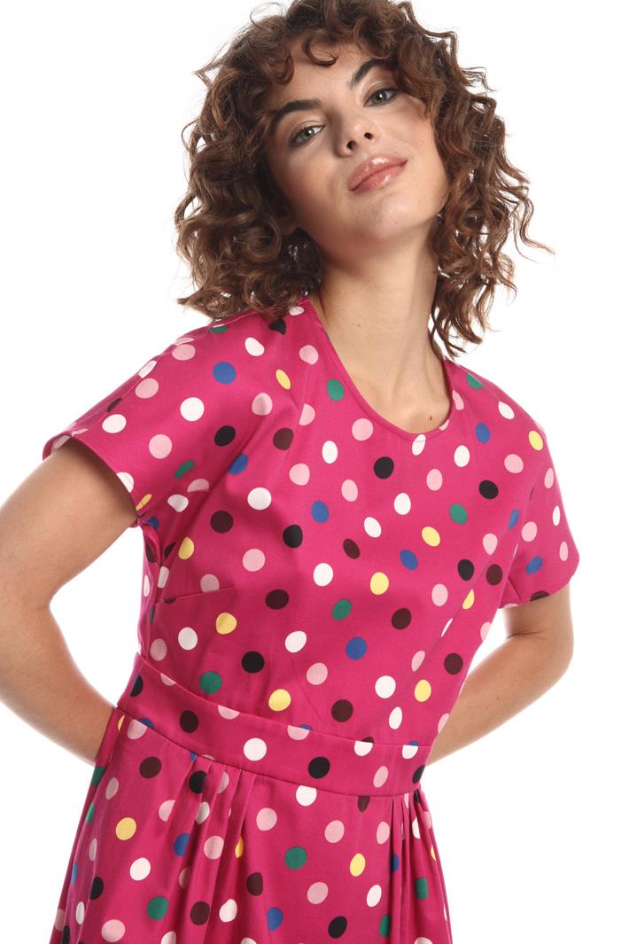 Cotton-satin corolla dress  Intrend