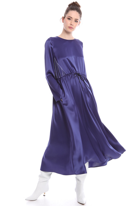 Satin and velvet dress Intrend