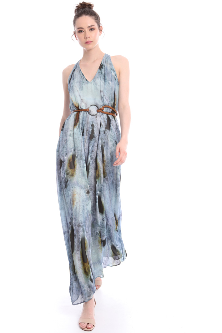 Maxi dress with fancy print  Intrend