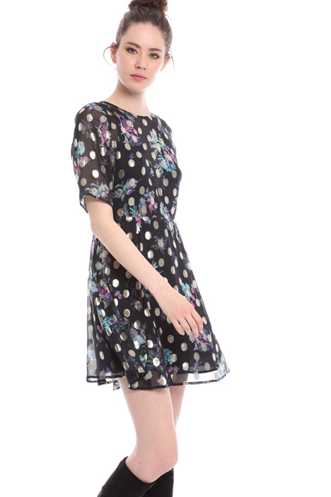 Silk chiffon floral dress  Intrend