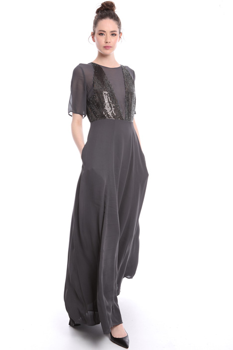 Long dress with sequin top  Intrend