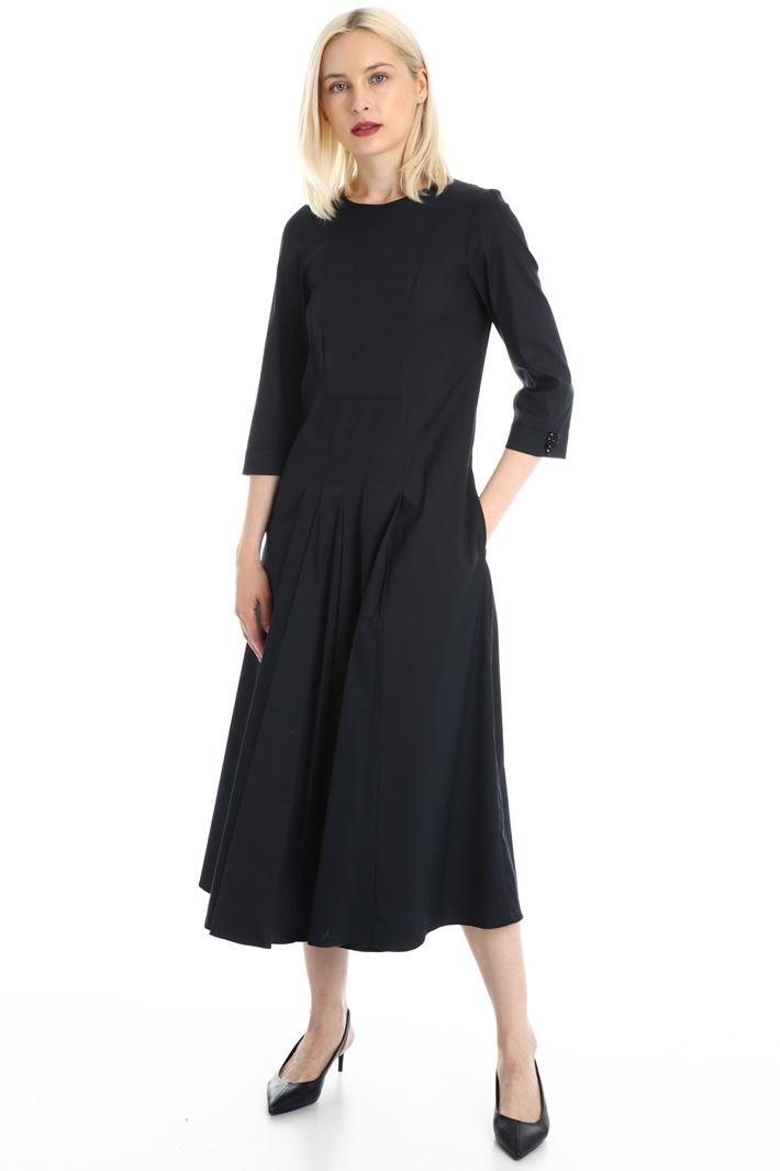 Stretch poplin dress Intrend