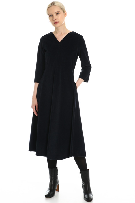 Cotton velvet dress Intrend