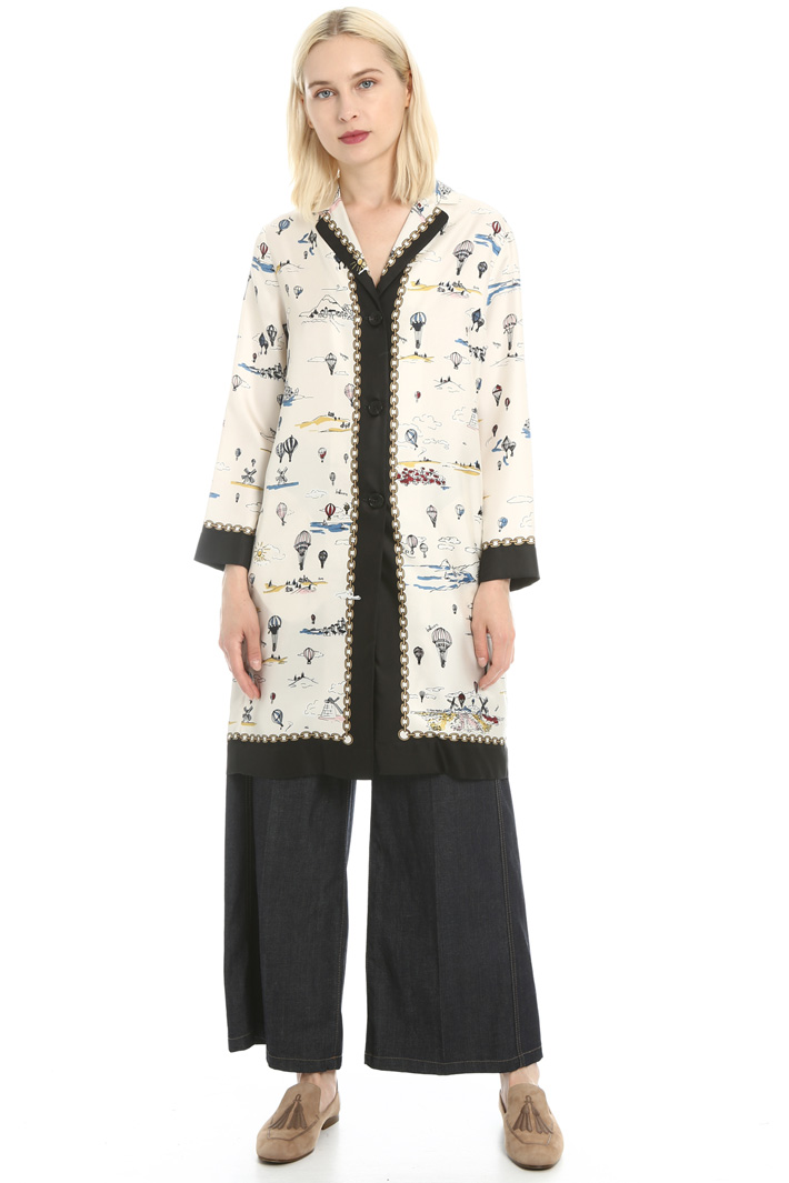 Silk twill tunic Intrend