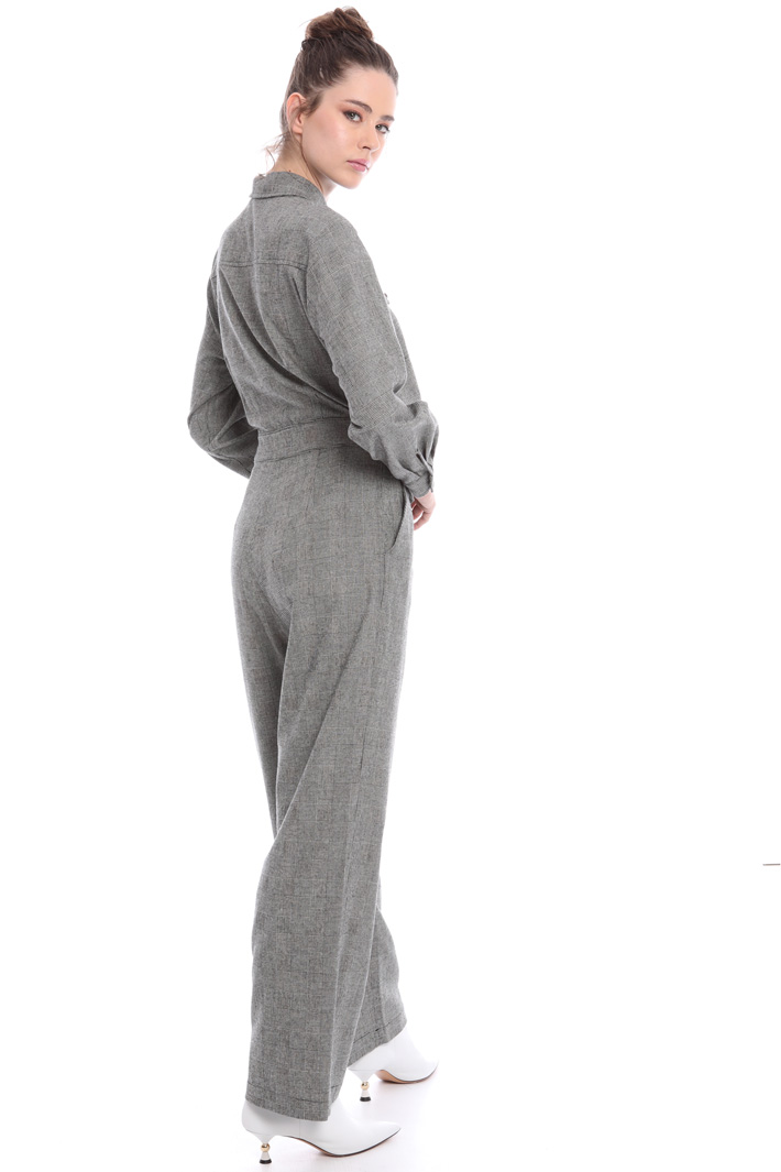Yarn-dyed wool jumpsuit Intrend