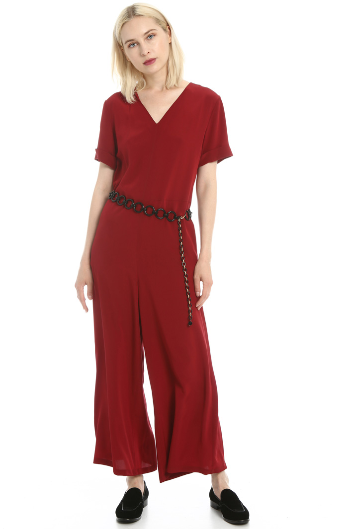 Silk crepe de chine jumpsuit Intrend