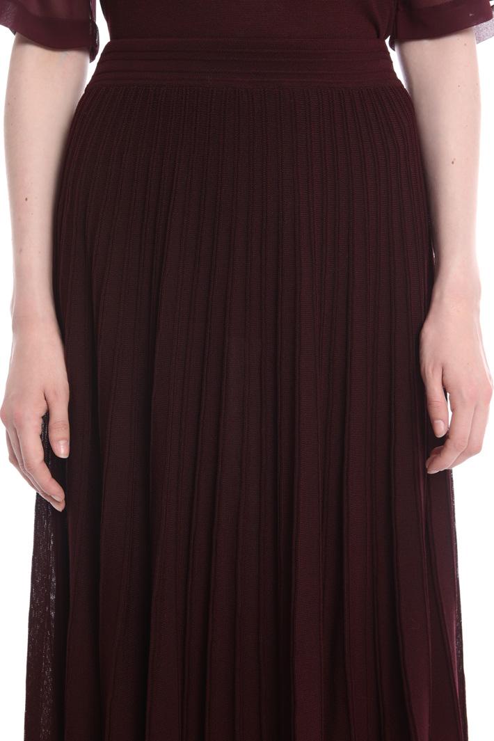 Pleat effect knit skirt Intrend