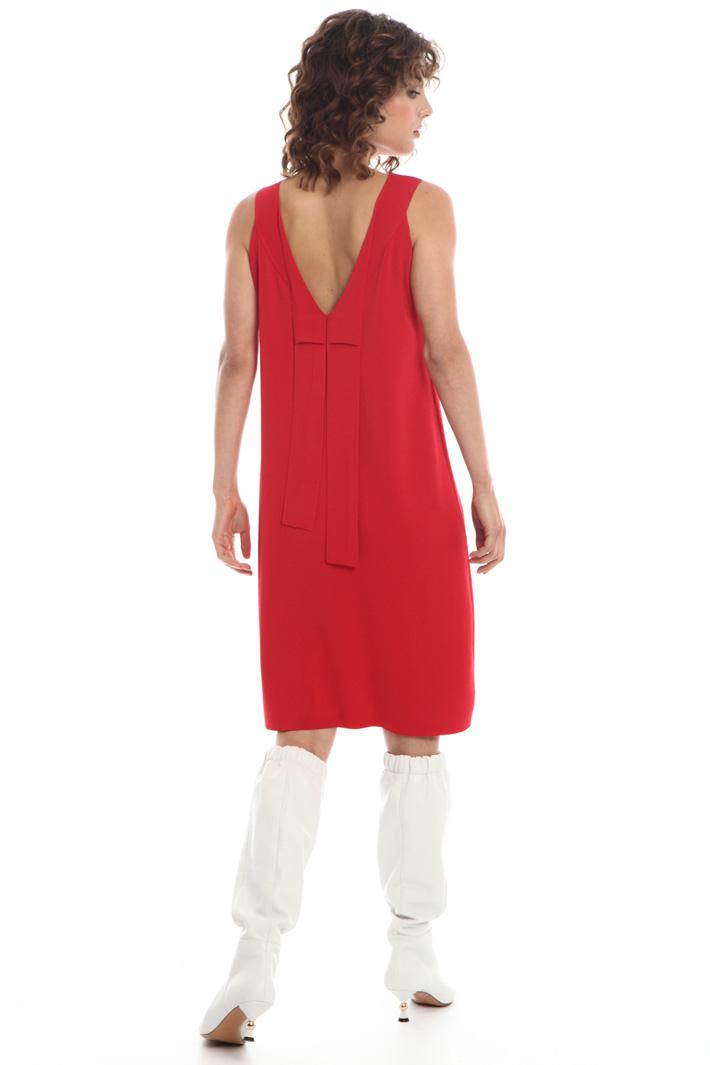 Back V-neck dress  Intrend