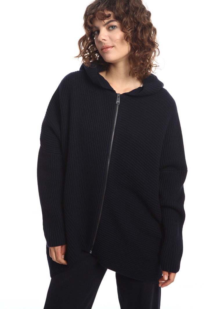 Zip-through hooded cardigan Intrend