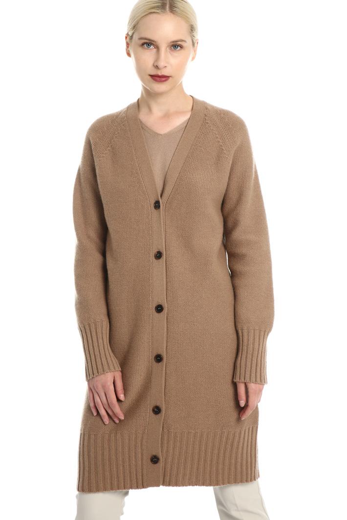 Long wool blend cardigan Intrend