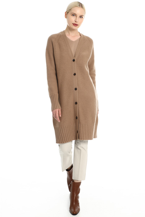 Long wool blend cardigan Intrend