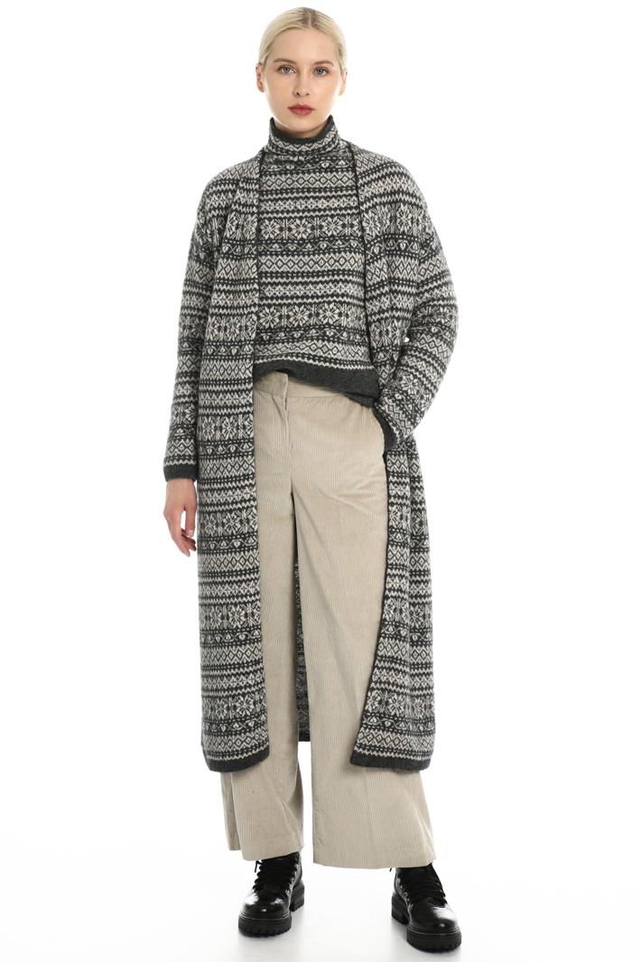 Wool jacquard dress Intrend