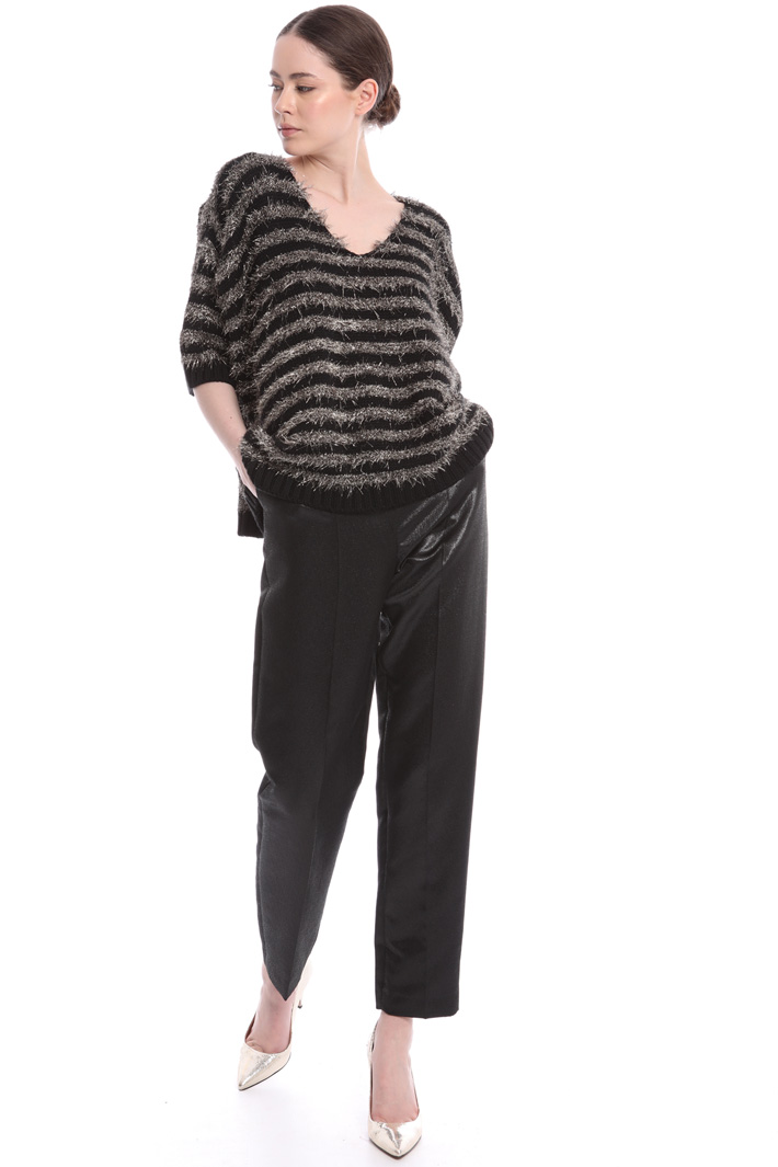Fluffy sweater with stripes Intrend