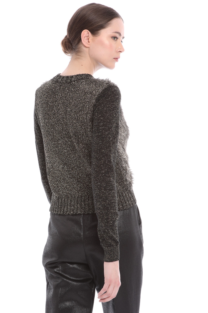 Fluffy lamé sweater Intrend