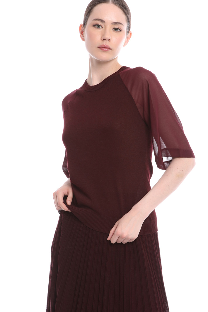 Blouse with soft sleeves  Intrend