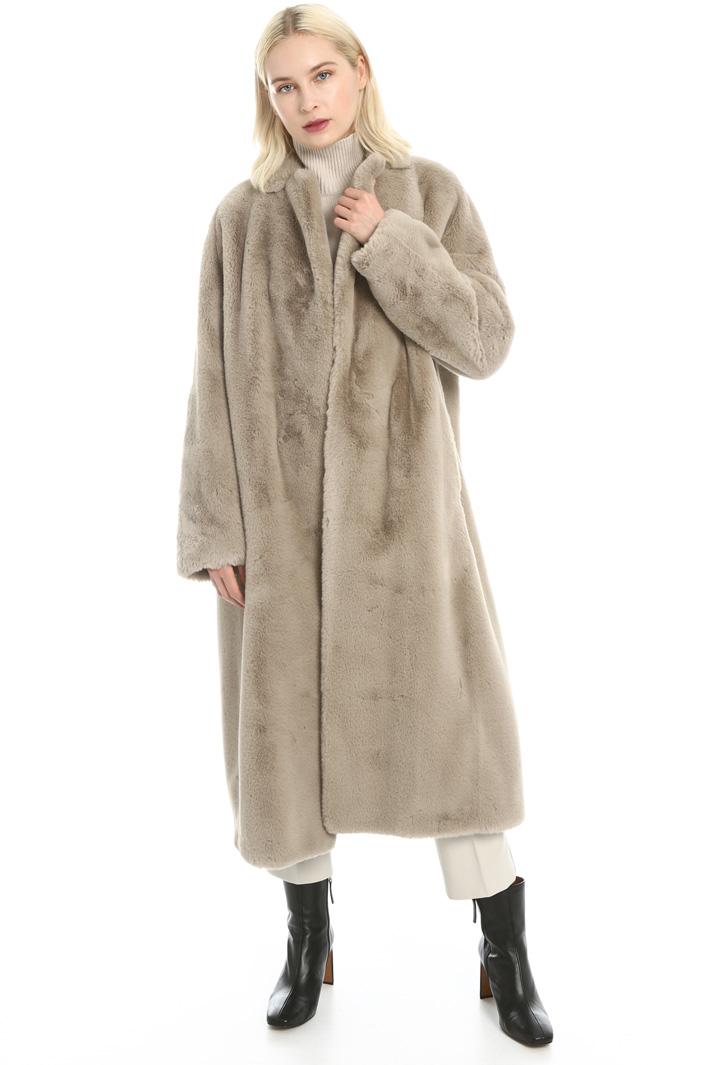 Plush overcoat Intrend