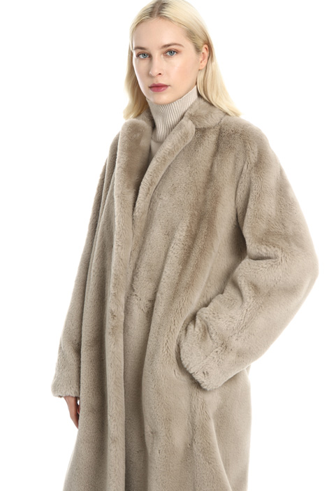 Plush overcoat Intrend