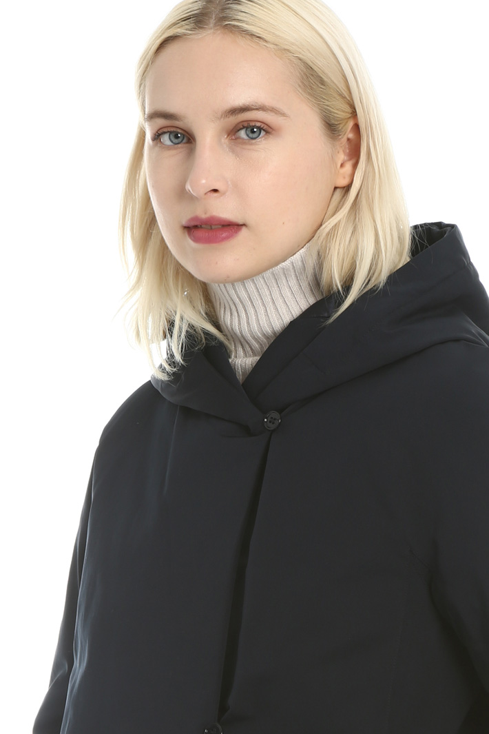 Reversible faille down coat Intrend