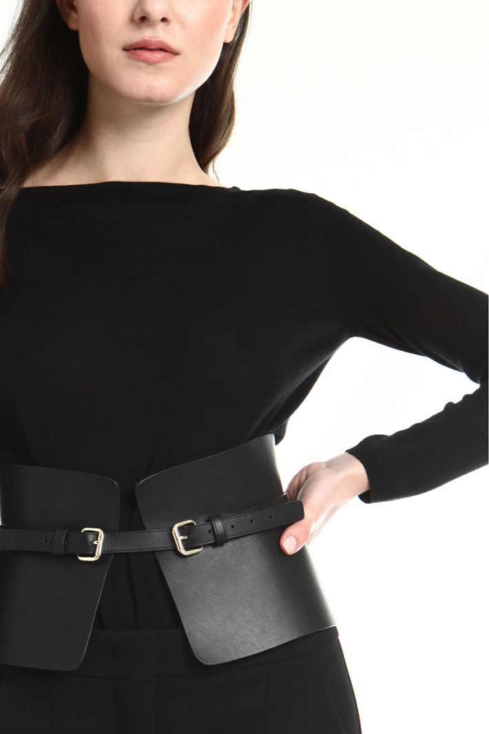 Leather bustier belt Intrend