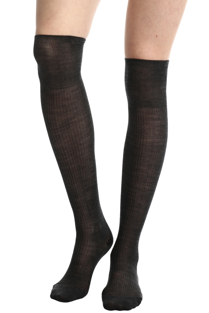 Wool over-the-knee socks  Intrend