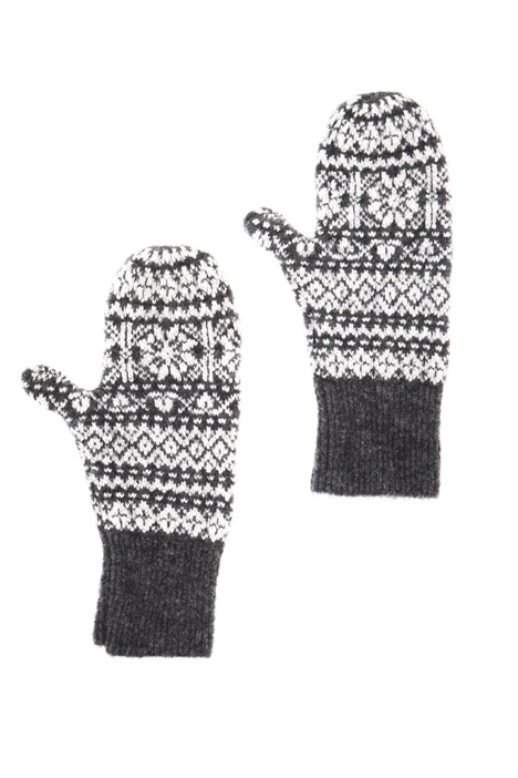 Wool and mohair mittens Intrend
