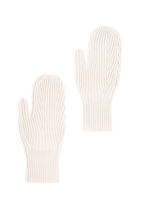 Knit wool mittens Intrend