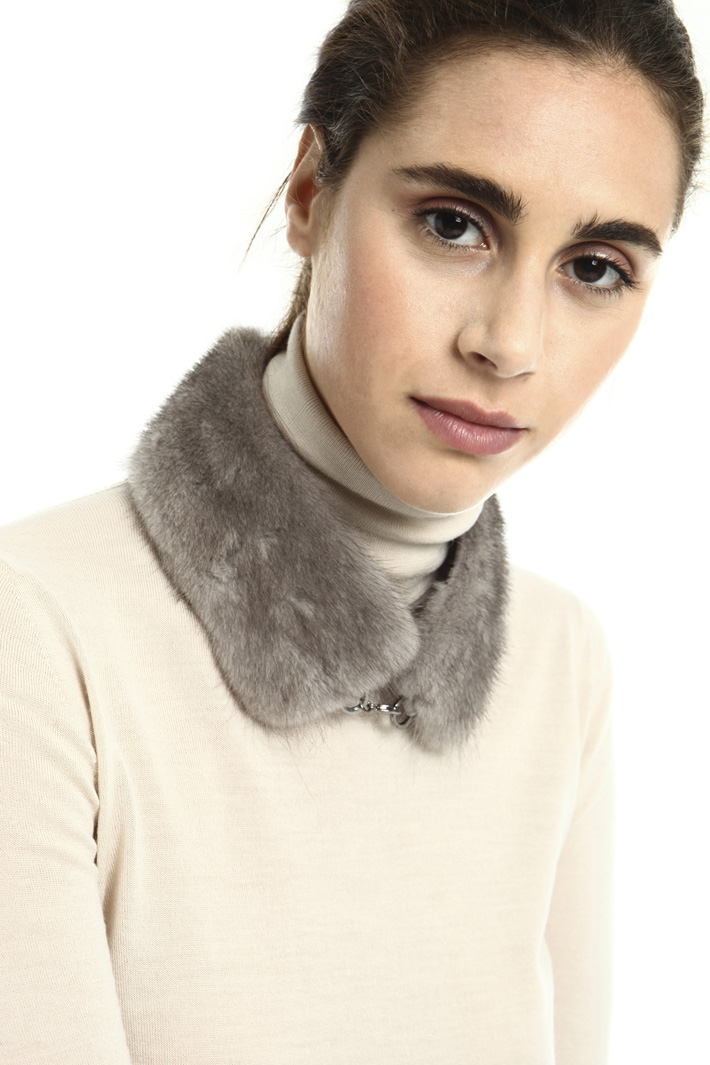 Mink fur collar Intrend