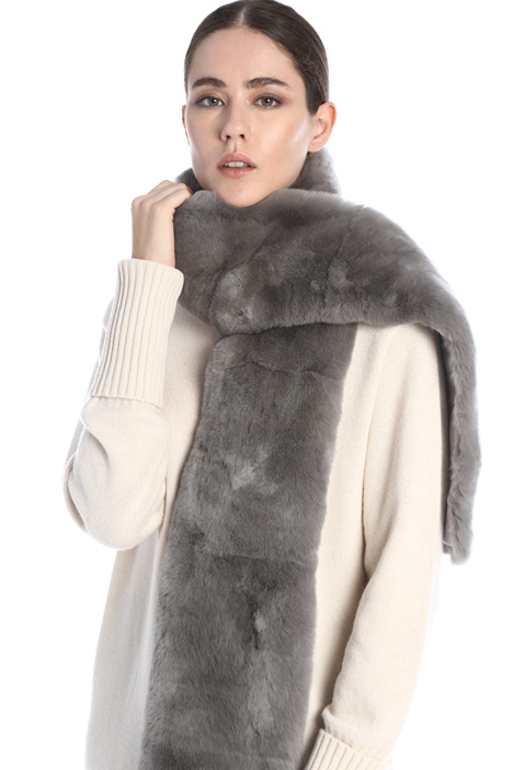 Rabbit fur stole Intrend