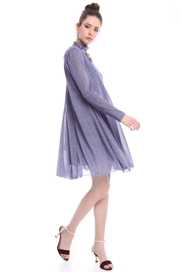 Lamé jersey A-line dress Intrend