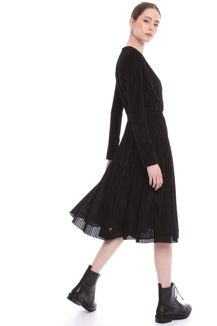 Princess line velvet dress Intrend