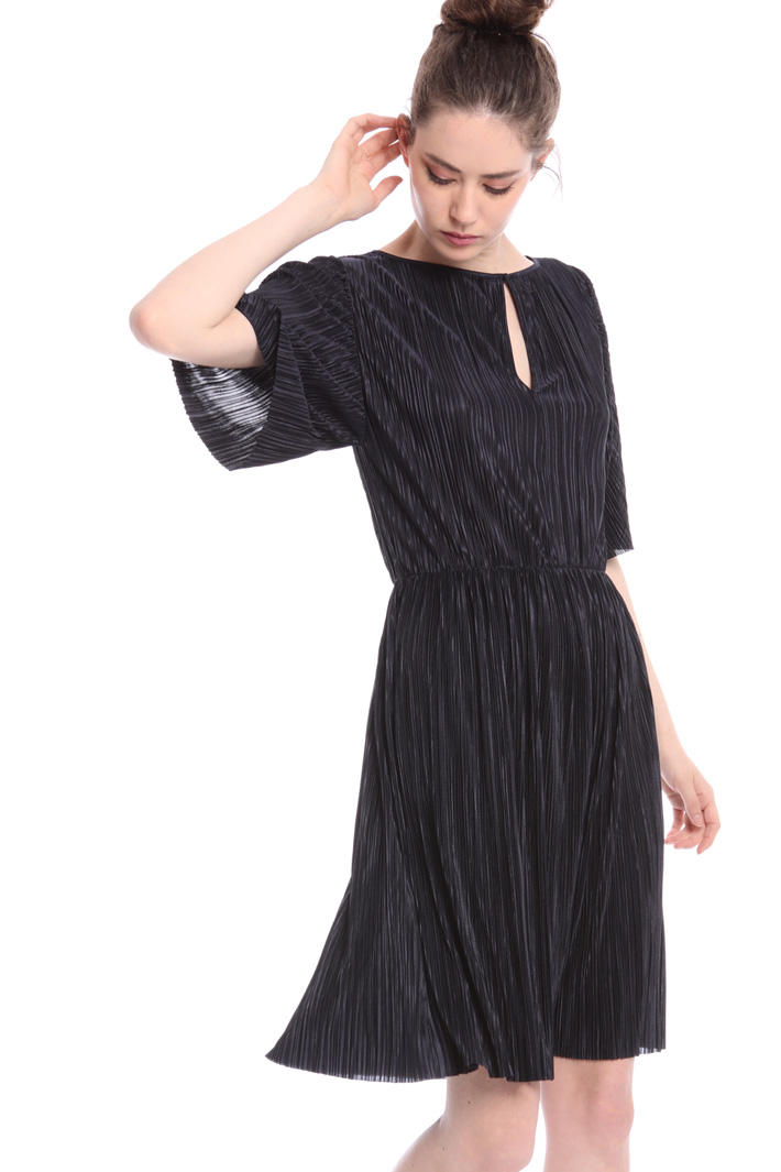 Pleated jersey dress  Intrend