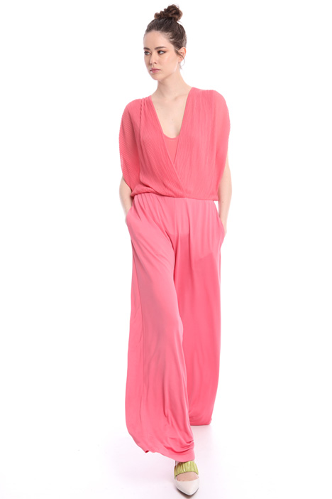 Crossed V-neck jumpsuit  Intrend
