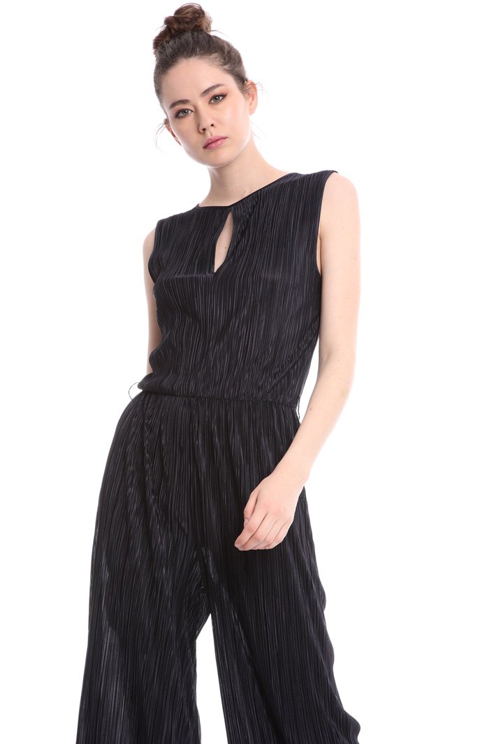 Micro-pleated jersey jumpsuit  Intrend