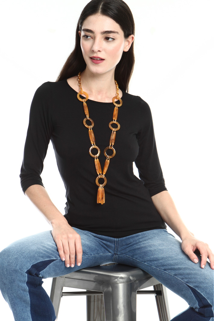 Necklace with resin pendants Intrend