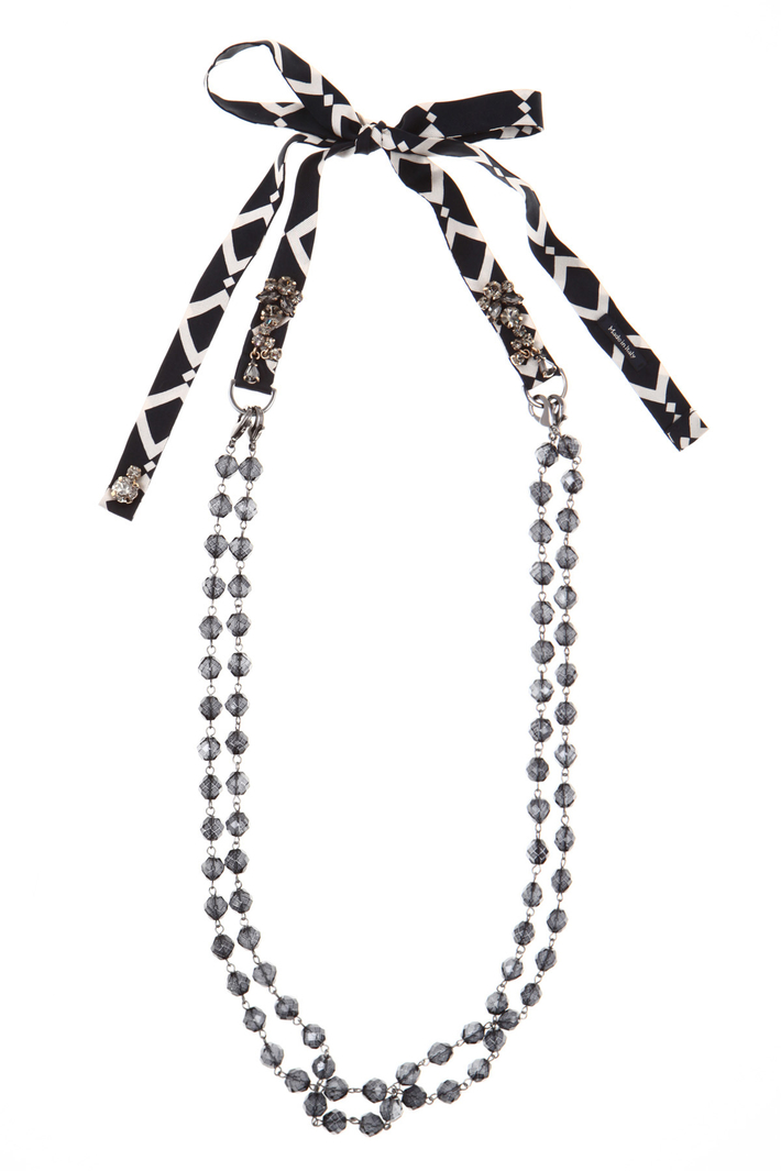 Glass and silk necklace Intrend