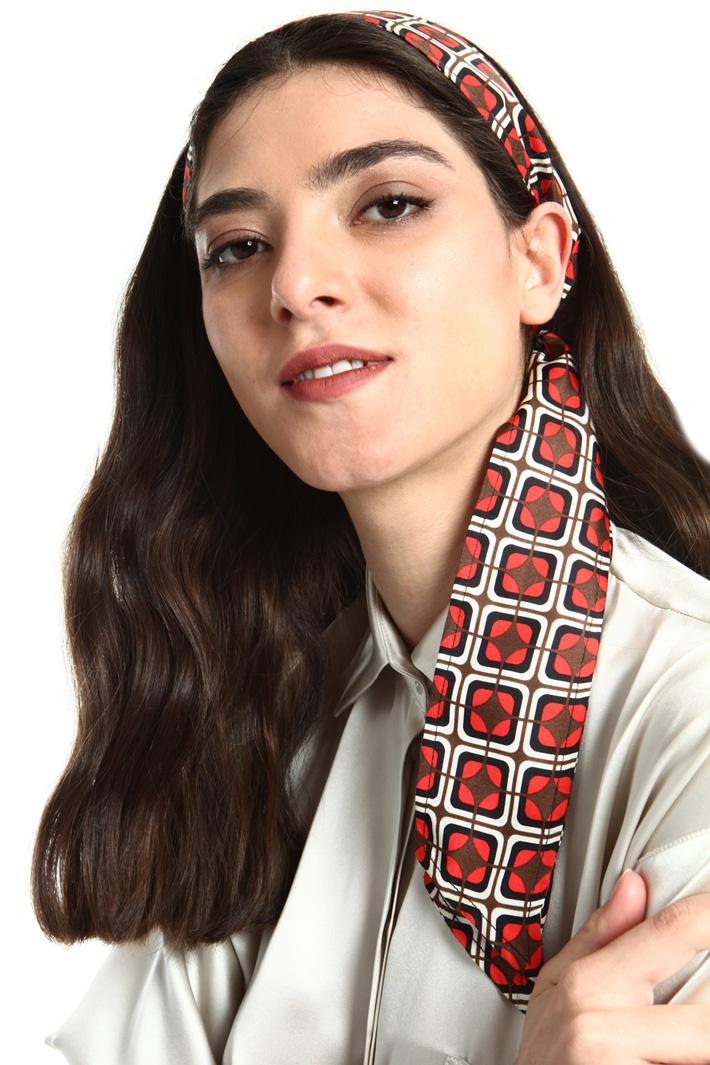 Silk twill hair sash Intrend