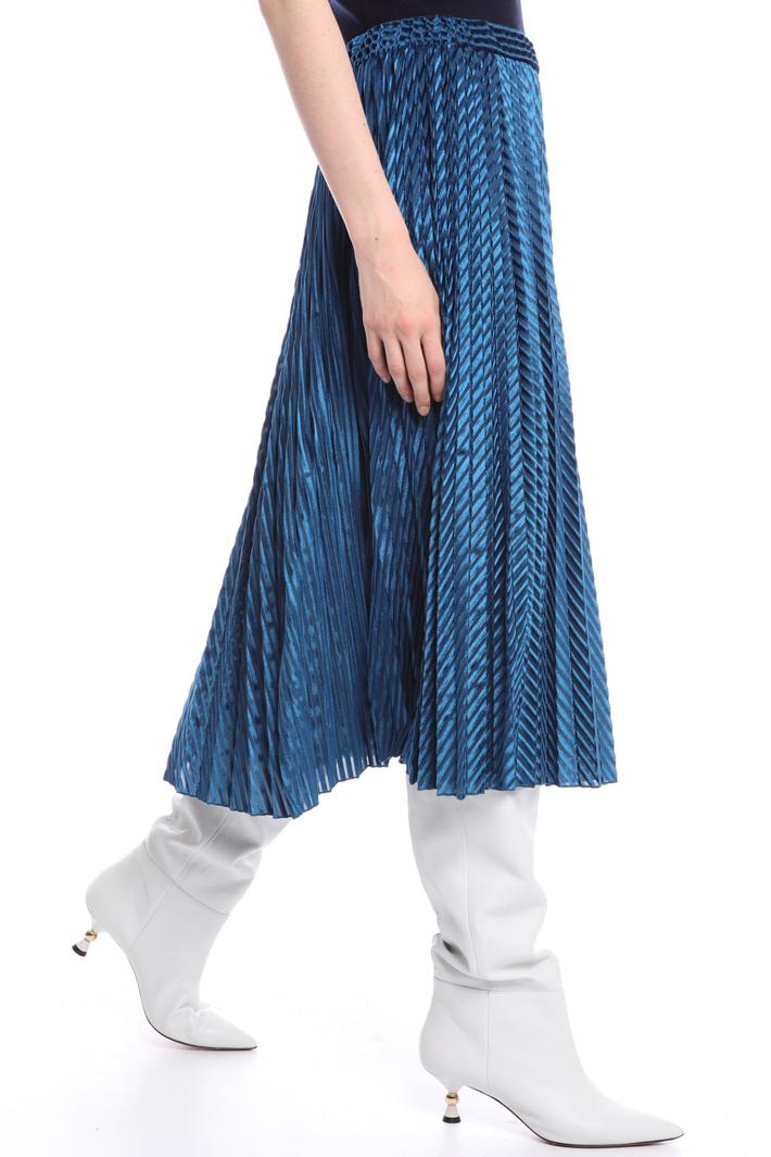 Velvet pleated skirt Intrend